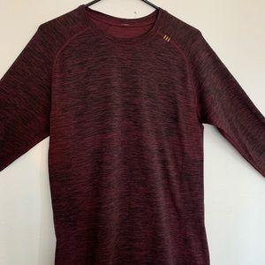 Lululemon men's long sleeve maroon tech shirt, M